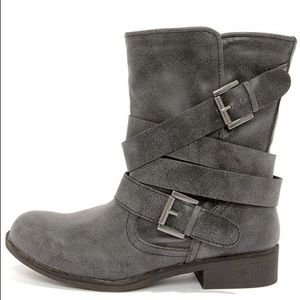 MADDEN GIRL CULLENN BURNISHED AND BELTED BOOTS